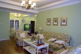 美式清新绿色客厅设计美图