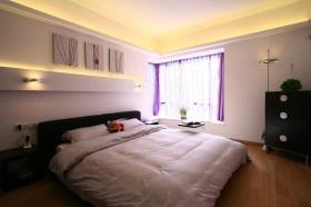 时尚白色现代风格卧室装饰设计图片
