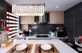 黑色现代风格厨房设计图赏析