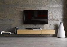 现代时尚灰色电视背景墙