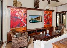 多彩混搭客厅背景墙装修