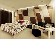 时尚现代风格卧室背景墙