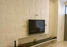 米色简洁电视背景墙设计