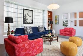 创意混搭白色客厅设计
