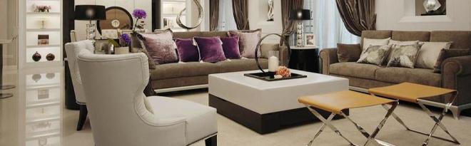 现代时尚灰色客厅装潢