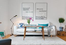 北欧白色客厅装修图