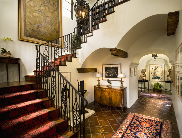 Staircase in andalucian style home