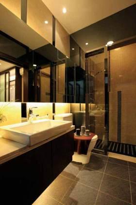 简约立体卫生间浴室柜设计