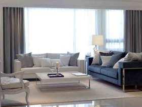 现代奢华两居室装修效果图
