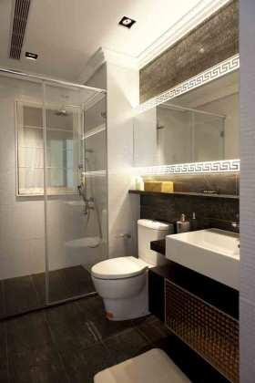 古雅时尚中式卫生间装修效果图