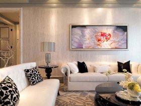 欧式典雅客厅背景墙装修效果图