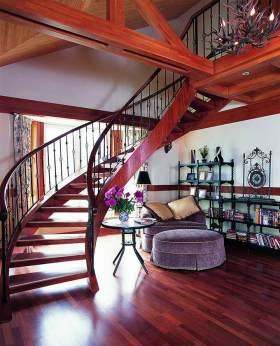 明艳东南亚风格楼梯设计效果图