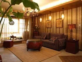 中式二居室装修案例