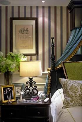 绿色温馨美式卧室装修局部效果图