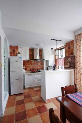 清新整洁田园风格厨房装潢设计