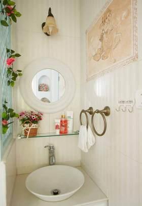 田园精致卫生间洗手台设计