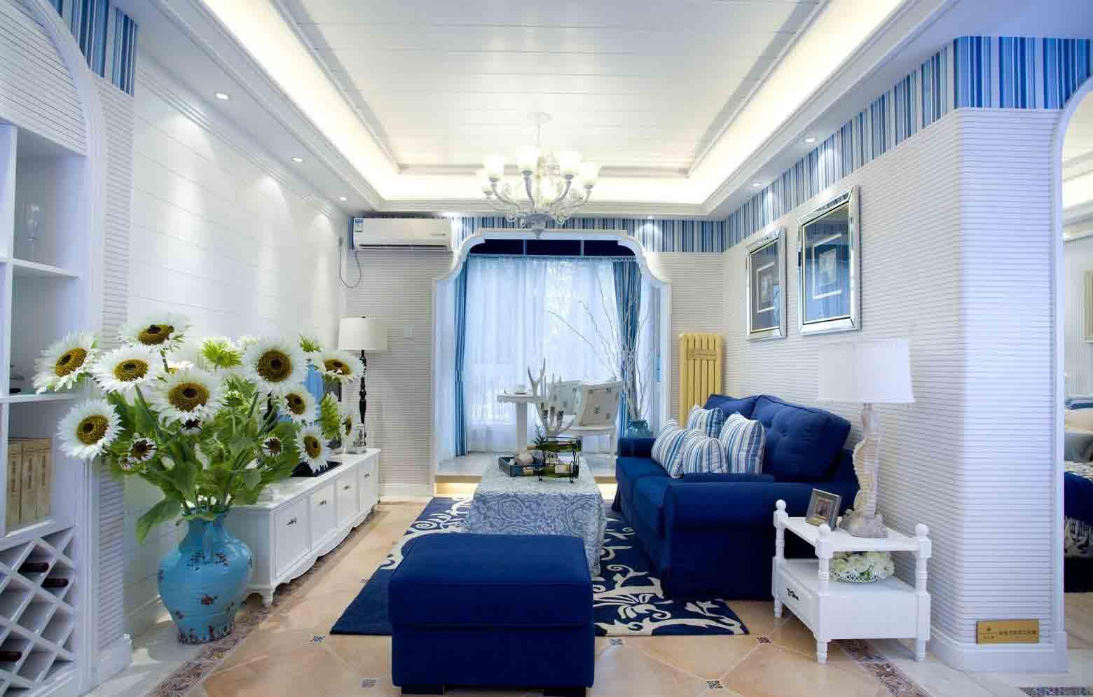 浪漫地中海82平两室装修效果图