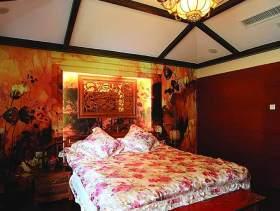 华丽浪漫中式卧室设计
