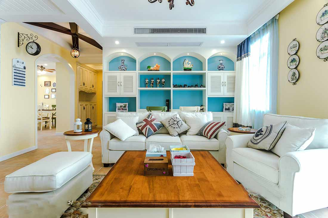 地中海式三室装修效果图设计