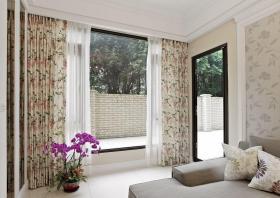 2016美式风格窗帘装饰设计图片