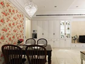 新中式白色餐厅布置设计