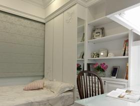 白色简约温馨卧室装修效果图
