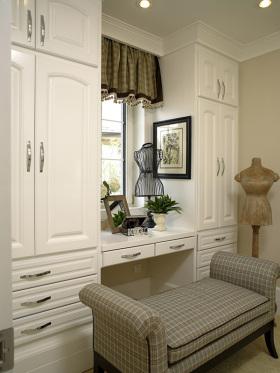 白色素雅欧式风格衣帽间设计图