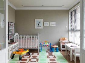 素雅温馨简欧风格儿童房设计