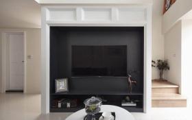 2016黑色简约电视背景墙设计