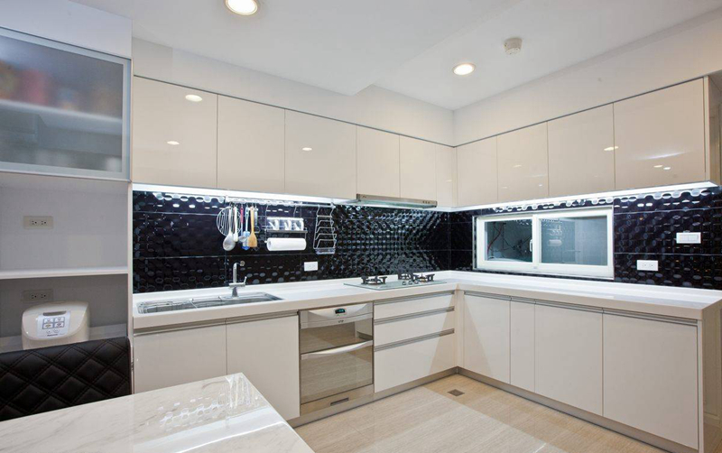 装修美图 2016现代简洁厨房装修效果图  免费户型设计 3家优质装修