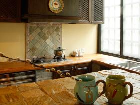 美式休闲乡村厨房设计