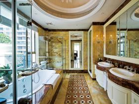 尊贵奢华欧式卫生间装修效果图片