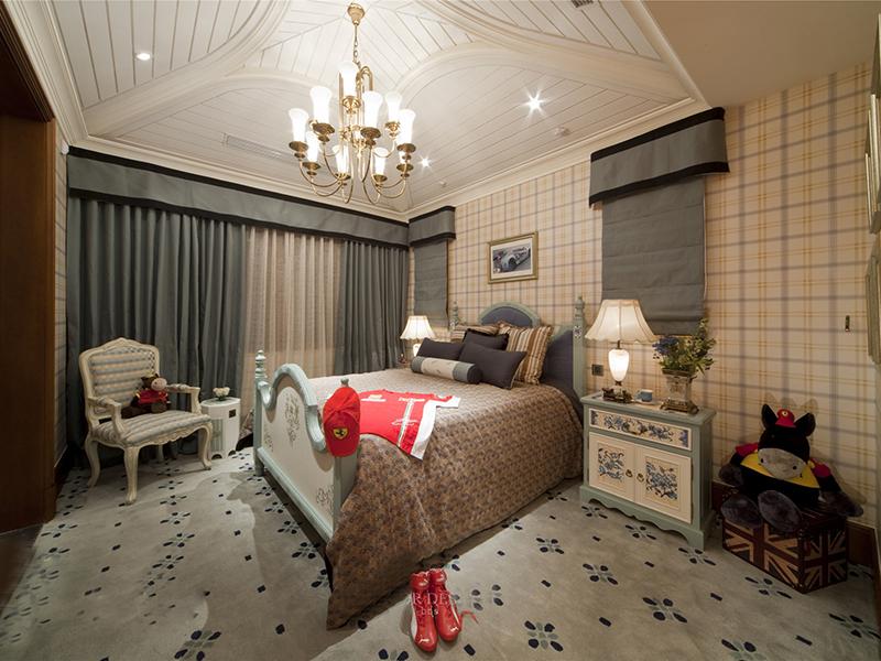 欧式简洁时尚卧室装修效果图