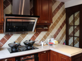 2016中式简洁厨房装修效果图