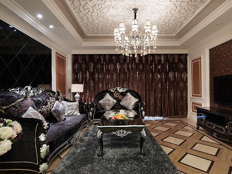 2016欧式尊贵奢华客厅装修效果欣赏