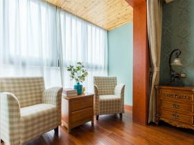 美式清新休闲窗帘设计装潢