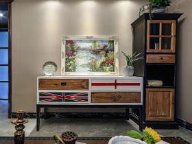 美式复古做旧装饰柜设计