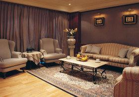 欧式条纹布艺沙发实景欣赏