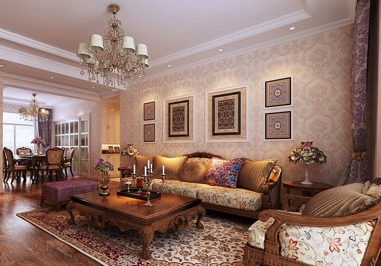 欧式古典田园木质沙发欣赏