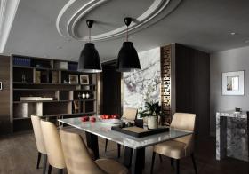 现代深沉大理石餐厅设计