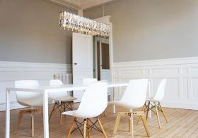 宜家超简洁纯白餐厅设计