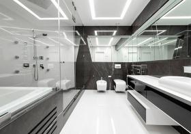 现代大理石瓷砖卫生间欣赏