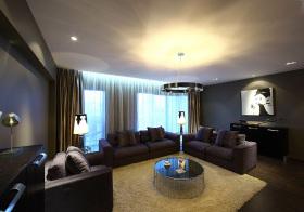 现代极简宽敞客厅欣赏