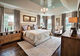 美式自然原木卧室美图