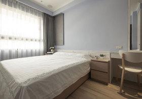 宜家极简淡紫色卧室美图