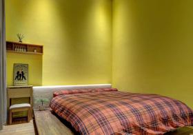 宜家暖绿卧室榻榻米美图