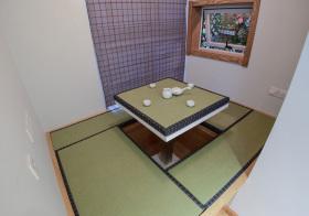 宜家绿色书房榻榻米实景