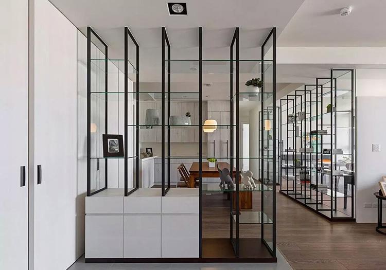 现代简约玻璃玄关美图