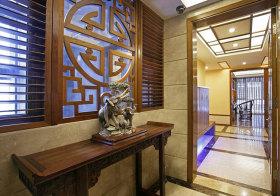 中式镂空装饰玄关实景