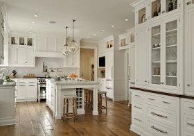 美式别墅岛型厨房美图